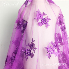 1yard 145cm Wide 3D Flower Embroidered Lace Sewing Fabric African Wedding Women's Dress Mesh Net Lace Tulle Trim Craft кабель rexant dvi hdmi 17 6812