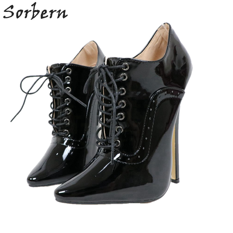 Sorbern Stripper High Heels Pump Women 18Cm Women Shoes 43 Size Stilletos Women Point Toe Custom Crossdressing Pumps Lady