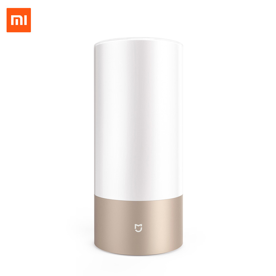 цена Xiaomi Mijia Yeelight Bedside Lamp Table Desk Smart Indoor Light 16 Million RGB Touch Control Bluetooth Wifi for Mihome APP