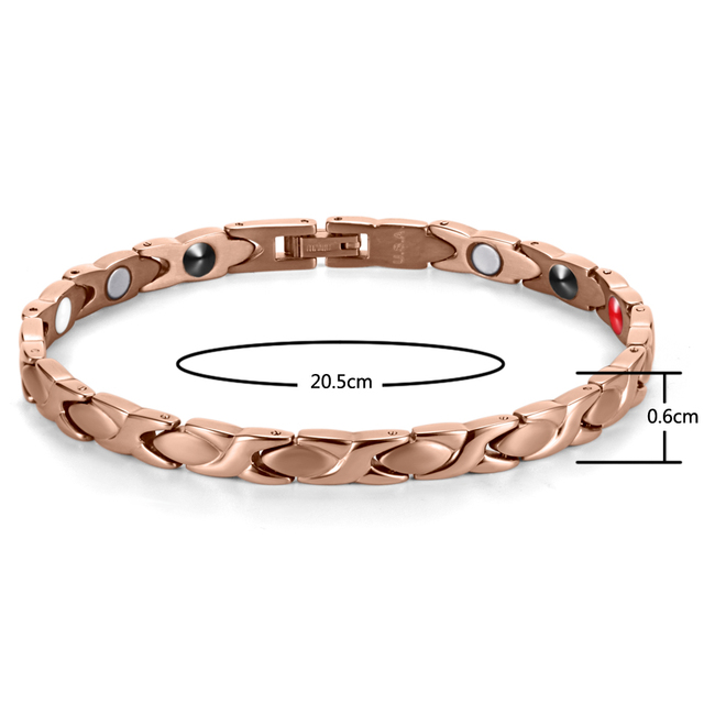 316L Stainless Steel Bracelet Femme 4 Elements Magnetic Bracelet