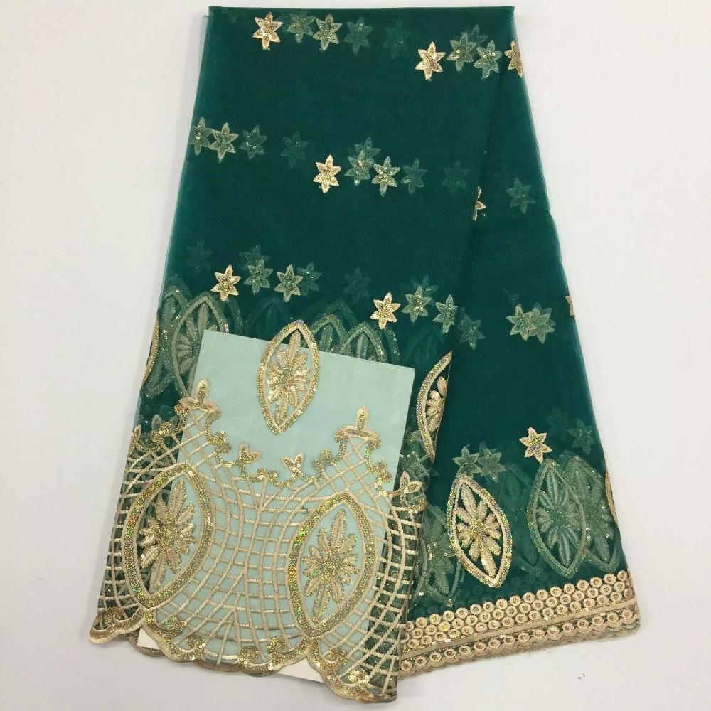 Africké krajkové tkaniny Vánoční dekorace Svatební Francouzské Costura Nigerijské Vestido De Renda Dentelle Šití Vyšívané PF47-1