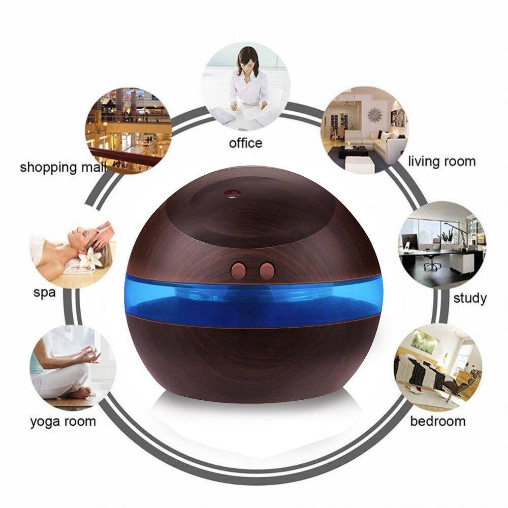 Humidifikues ultrasonik USB, 300ml Prodhues mjegullash aromaterapie - Pajisje shtëpiake - Foto 4