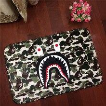 Verde del ejército WGM Tiburón Bape Alfombra Franela Suave Rectangular Alfombras antideslizantes Alfombras de Baño Sala de estar Casa Puerta envío Gratis