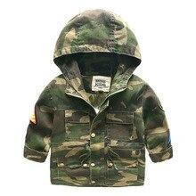 С капюшоном Мальчиков Куртки Спорт Камуфляж Пальто Для Мальчиков Outerwears 1-8Y детская Куртки Осень Люминесцентные Открытый Бурелом 3