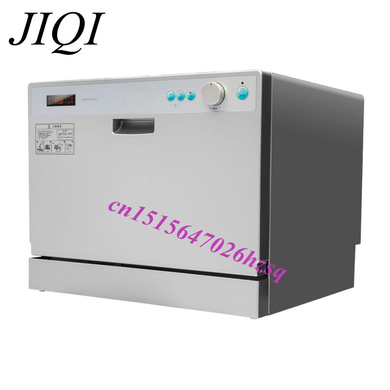 JIQI 3 In 1 Multifunctional Kitchen Appliance 6 Sets Dishes Drawer Dish Washer Cleaning Sterilization Drying, Storage Function