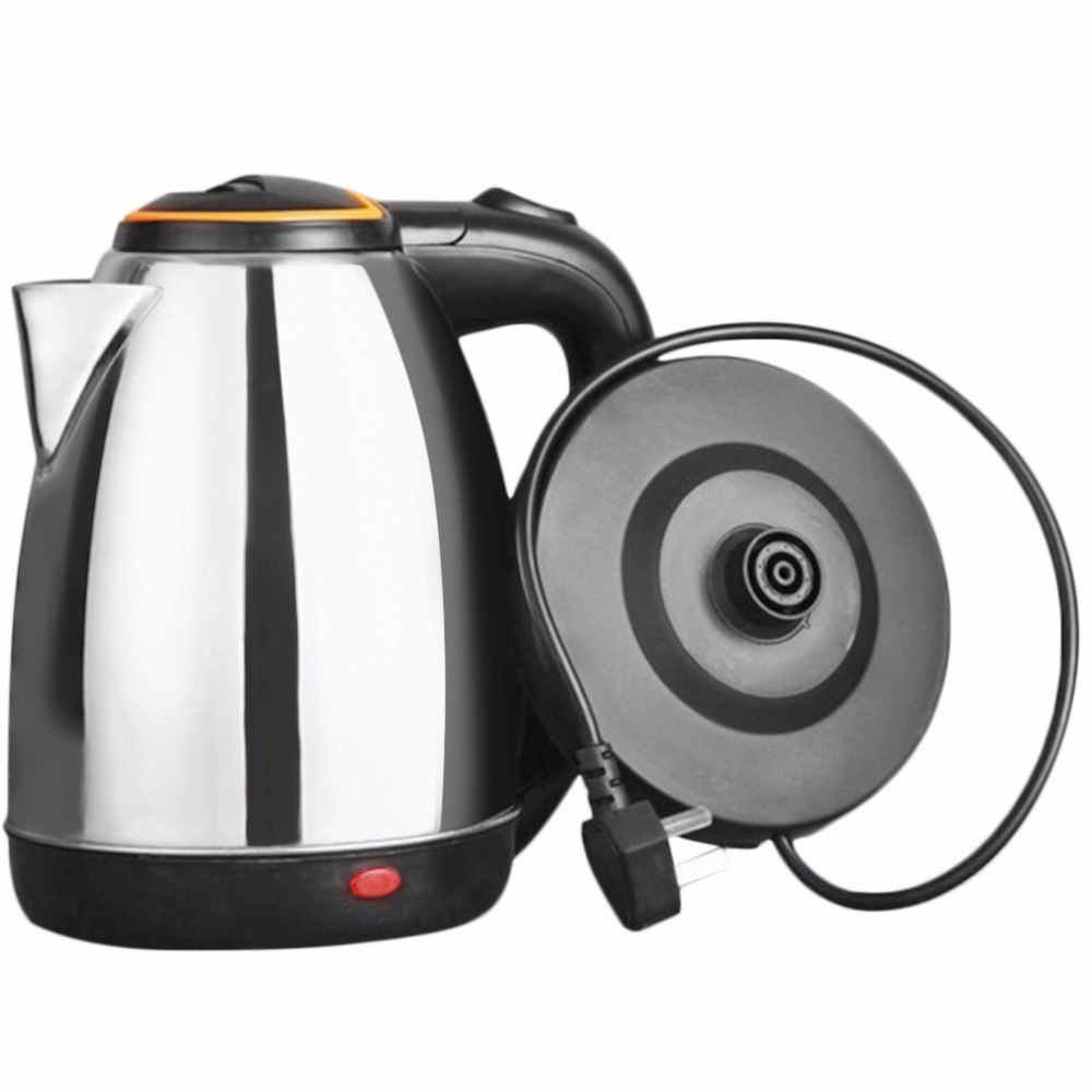 2L Stainless Steel Electric kettle Energy-efficient Anti-dry Waterkoker Protection Heating underpan Automatic Cut Off Jug Kettle2L Stainless Steel Electric kettle Energy-efficient Anti-dry Waterkoker Protection Heating underpan Automatic Cut Off Jug Kettle