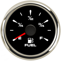 8 Color Backlight Car Fuel Level Gauges Digital Waterproof Fuel Level Meters 0 190ohm 240 33ohm for Auto Boat 52mm