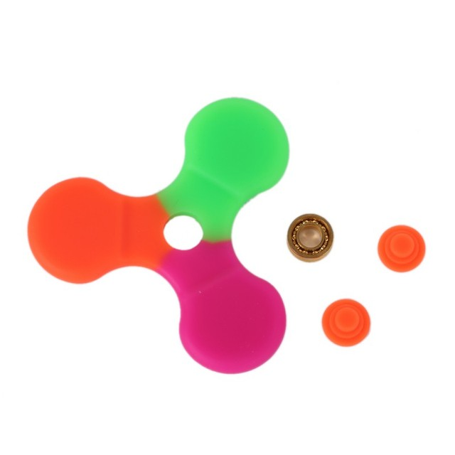 Silicone and Plastic Fidget Spinner