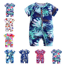 Baby girl boy romper clothes newborn short-sleeved summer  baby jumpsuit 3M-12M