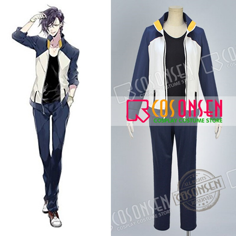 COSPLAYONSEN Touken Ranbu Akashi Kuniyuki Casual Clothing Cosplay Costume All Size