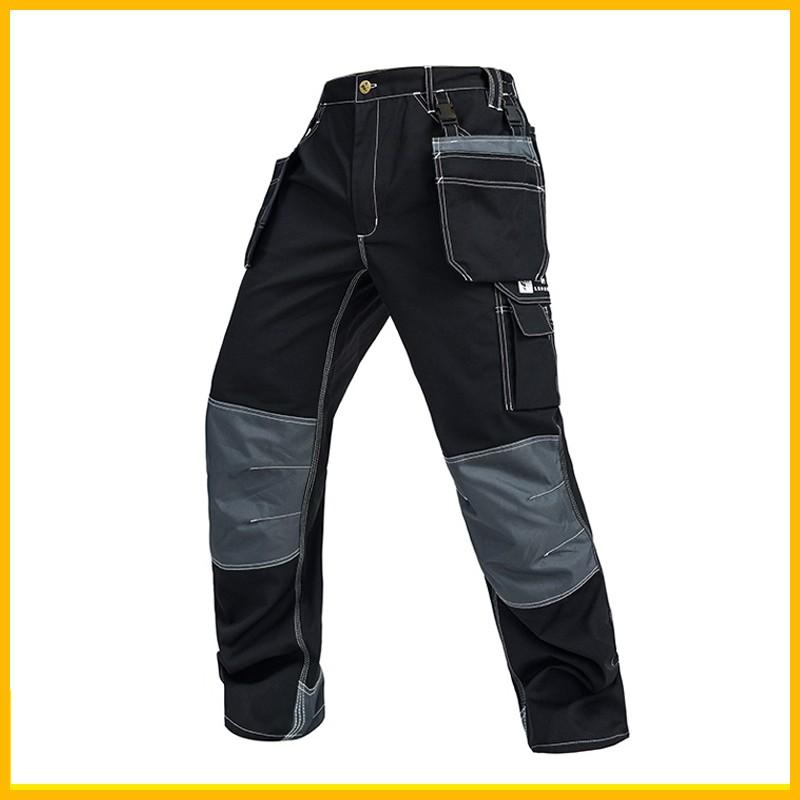 eb939ec194e6 High Quality Working men s cargo pants multi pockets black pant work ...