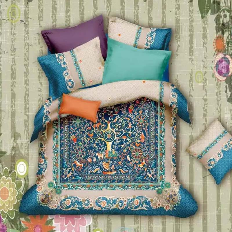 Superior Vintage Bohemian Baroque Bedding Set Queen King Size Bed Sheets Duvet Cover  Pillow Case Pure Cotton Fabric Textiles Bed In A Bag In Bedding Sets From  Home ...