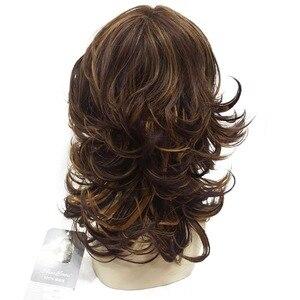 Image 4 - شعر مستعار نسائي قوي مجعد متوسط الطبقات من أوبورن لشعر مستعار كامل اصطناعي سميك