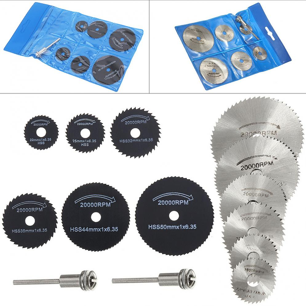 14pcs/lot Drill Dremel Accessories HSS Circular Saw Blades Power Tools Wood Cutting Disc Grinding Wheel Set For Rotary Tools