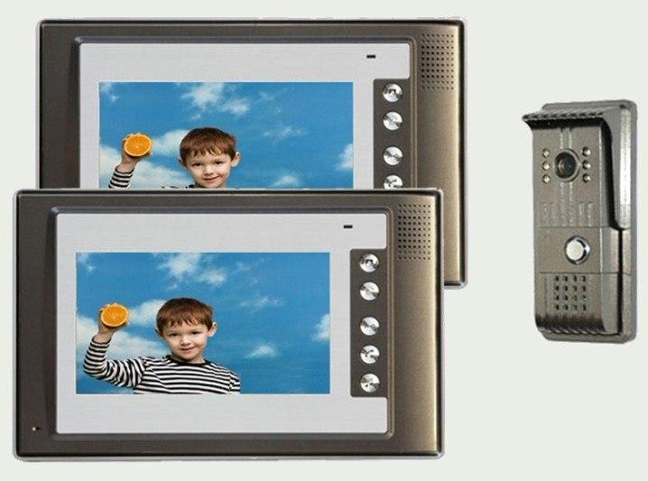 XinSiLu домашняя система безопасности домофон дверной звонок 7 ''ручной видеодомофон-ультратонкий видеодомофон 1 камера+ 2 монитора