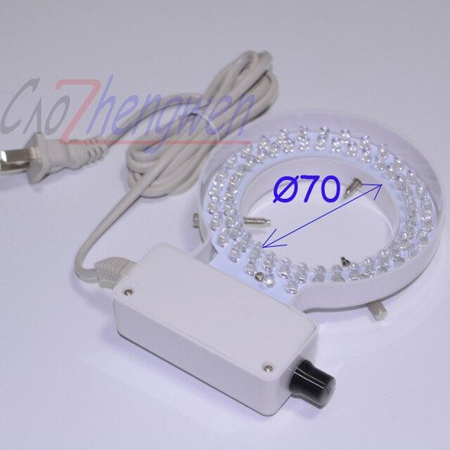 Fyscope 70mm Inner Diameter White Ring Light 64 Pcs Led Lamp With Adapter For Stereo Microscope