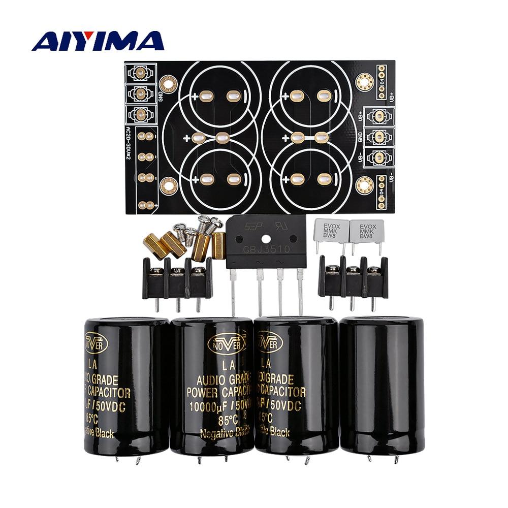 AIYIMA 35A выпрямитель, фильтрующая плата 10000 мкФ/50 В AC/DC, аудио усилитель, питание, плата питания, Diy комплекты для 3886 7293, усилитель, сделай сам