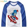 Good Quality Children Tee Shirts 24M-6T Boys Raglan Long Sleeve T-Shirts Cartoon Superheroes Print Kids Clothing CMB924