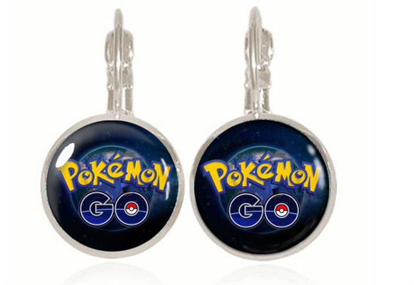 New Year Christmas Gifts Pokemon Pokeball Picture Earrings Studs For Women Vintage Bronze Gl Jewelry Whole In Stud From