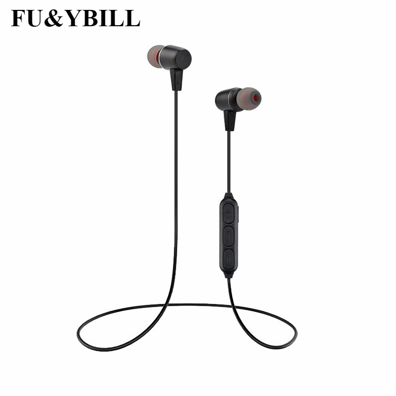 Fu&yBill New Fashion Sport Wireless Bluetooth Earphone with Mic Running Stereo Universal Headset Best Cordless Earbuds for Phone fashion men women outdoor running sport wireless bluetooth headband with mic smart music electronics knit hair band for phone