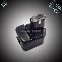 מכירה 12 V NI-CD 2000 mAh כלי חשמל סוללה נטענת תחליף לhitachi EB1212S EB1220HL EB1220 EB1214S EB1230X EB1233X