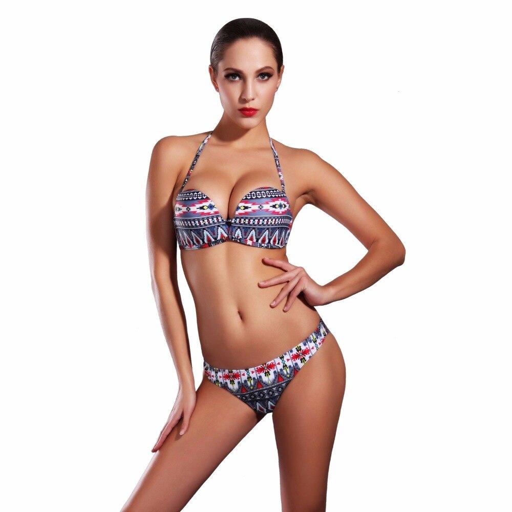 New Sexy Tube Top Bikinis Set Women Slim Bottom Halter Top Bathing Suit Female Brazilian Trikini Swimwear Maillot De Bain sexy young girls bikinis set 3d color halter top and thong bottom bathing suit 2016 hot new biquini swimsuit