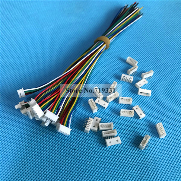 ᗜ LjഃMicro JST 1.25mm 1.25 JST 6P 6-Pin Male Connector with Wire + ...