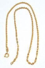 """Stunning women's yellow gold filled necklace fine particularity chain 17.7"""""""