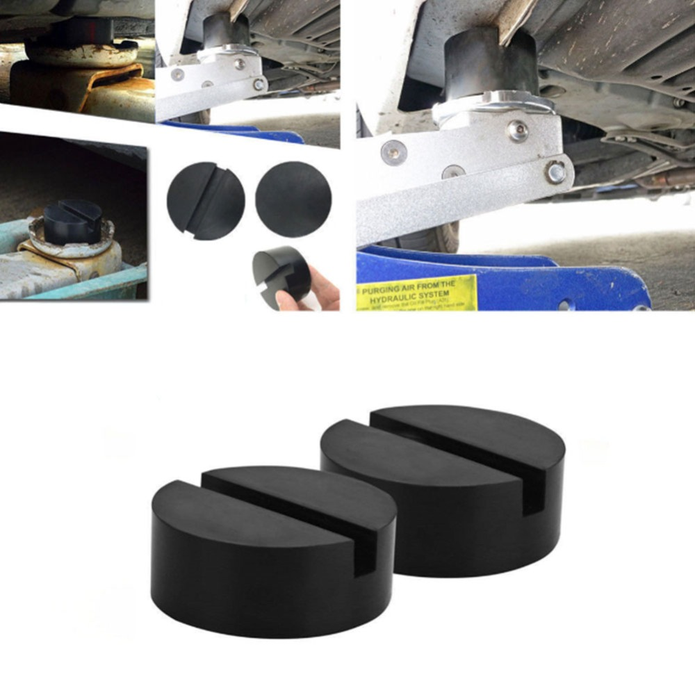 Universal Rubber Pad Block Hydraulic Ramp Jacking Trolley Jack Adapter Cross Slotted Frame Rail Protector