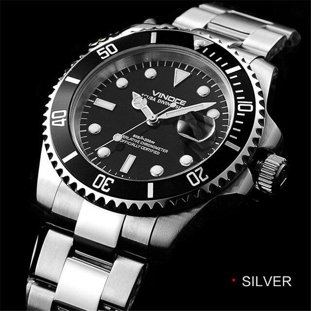 af95fe1b65e Assistir 20bar 200 m mergulho à prova d  água relógio de quartzo dos homens  de