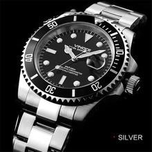 Reloj hombre 200 m impermeable de buceo reloj de cuarzo de acero inoxidable reloj 2016 reloj de lujo de negocios clásico
