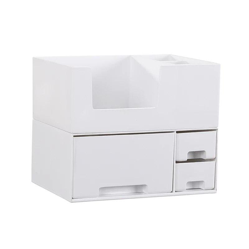 Boîte de rangement cosmétique en plastique avec petit tiroir bijoux Nail Art articles divers conteneur de bureau rouge à lèvres maquillage rack