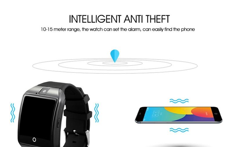 ถูก จัดส่งฟรีใหม่q18 p assometer smart watchที่มีหน้าจอสัมผัสกล้องtfการ์ดบลูทูธsmartwatchสำหรับandroid iosโทรศัพท์t30