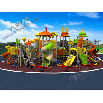 2017 large amusement plastic outdoor playground slide for school/park/community with CE/TUV park playground equipment