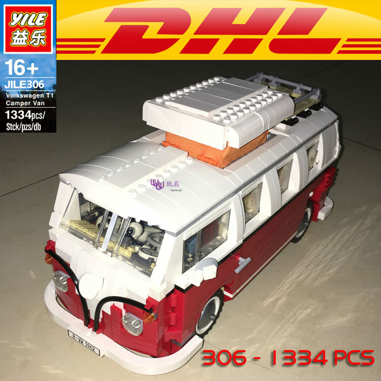 Yile 306 Creator Volkswagenn T1 Camper Van Building Blocks 10220 lepin technic bricks 21001 action figure car toys for children lightaling led light set compatible with brand camping van 10220 building model creator decorate kit blocks toys