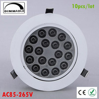 10X Dimmable Led Downlight Light Ceiling Spot Light 30w 36w 85 265V Ceiling Recessed Lights Indoor