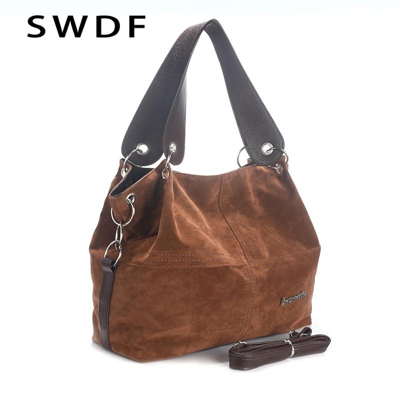 SWDF Handbag Tote-Bag Messenger Shoulder Female Vintage Large Soft-Corduroy High-Quality
