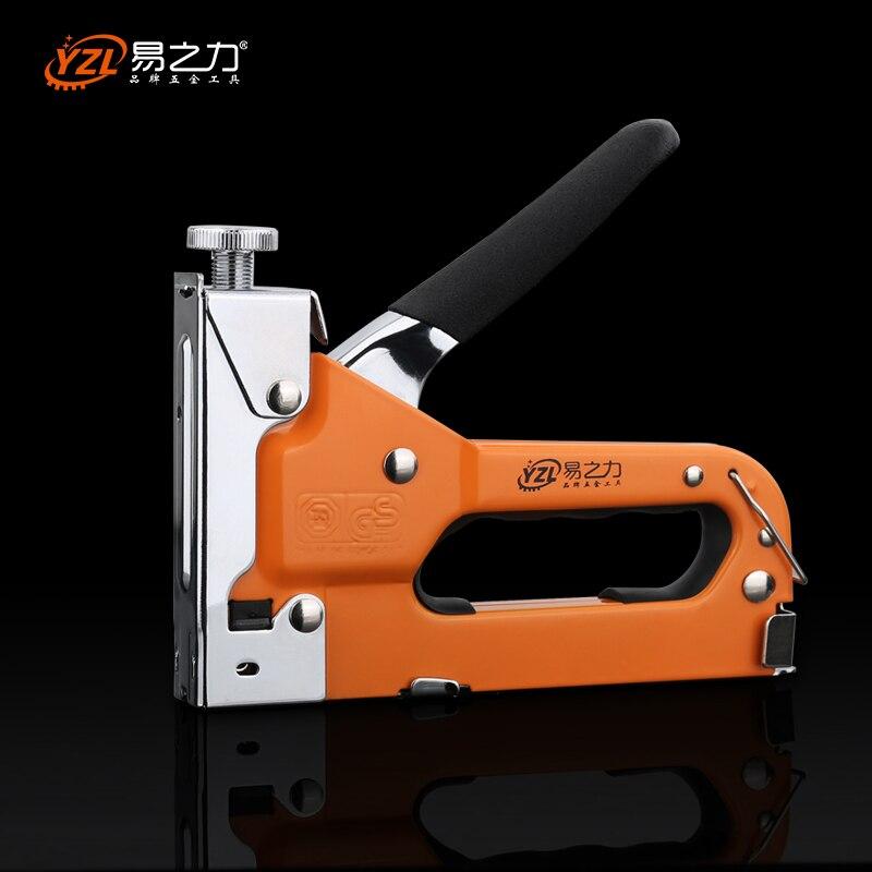 Multitool Nail Staple Gun Furniture Stapler For Wood Door Upholstery Framing Rivet Gun
