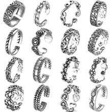 Todorova, anillos antiguos Punk de playa, anillos geométricos Vintage para nudillos para mujeres y hombres, anillo de Dedo del Pie ajustable tallado