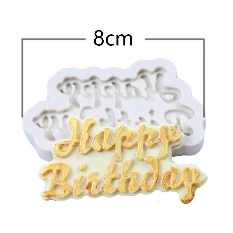 3D kwiat formy silikonowe ciasto kremówka ciasto cukierki czekoladowe Sugarcraft lodu ciasto narzędzie do pieczenia formy cyfrowy alfabet zwierząt