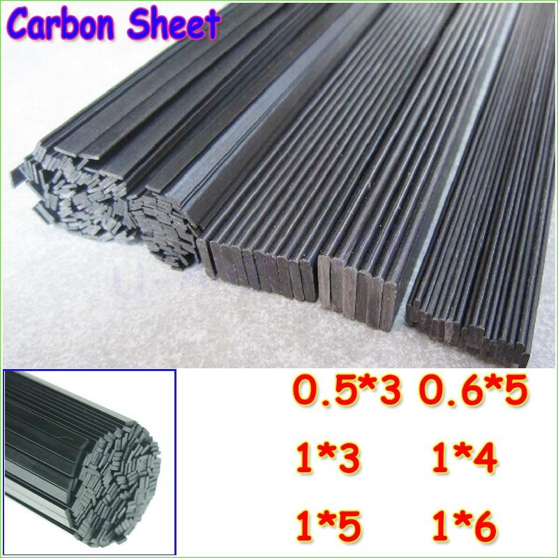 16pcs/lot Carbon Fiber Material 0.5mm*3mm 0.6*5 1*3 1*4 1*5 1*6 Carbon fiber sheet for RC Quadcopter Multicopter ( 0.5 Meter) tator rc 3k carbon fiber plate 3 5mm tl2900