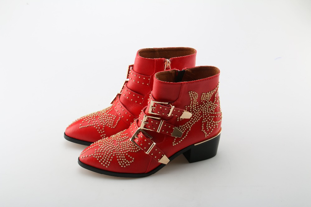 Zobairou western cowboy boots for women red black studded punk shoes ankle booties motocycle rain boots women rubber boots zobairou hot design suede ankle riding boots women western cowboy shoes woman fashion real genuine leather dicker boots 34 41