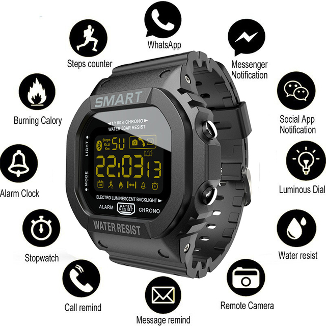 COXRY מלבן חכם שעון ספורט שעונים גברים צמיד 2019 ריצה Smartwatch נשים דיגיטלי אלקטרוניקה שעוני יד שעון מעורר