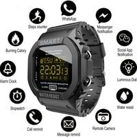 COXRY-reloj inteligente rectangular para hombre y mujer, pulsera deportiva para correr, electrónica, Digital, alarma, 2021