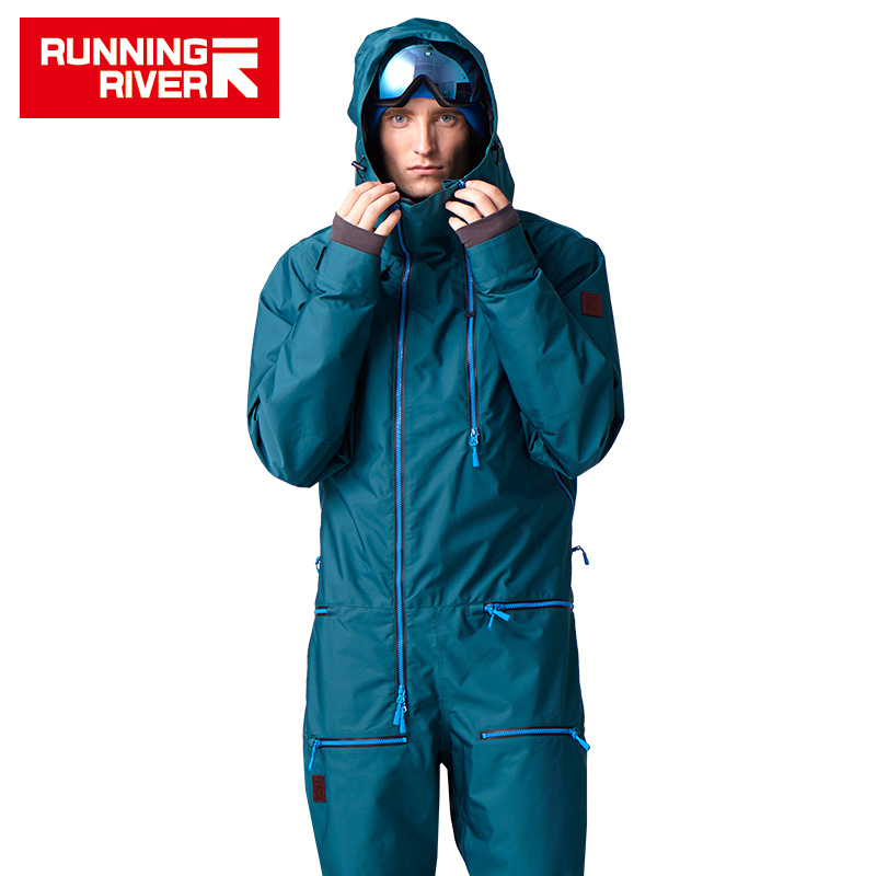 FIUME che scorre Marca Giacca Impermeabile Per gli uomini Snowboard Suit uomini Snowboard Giacca Maschile Set Da Snowboard Abbigliamento # B7096