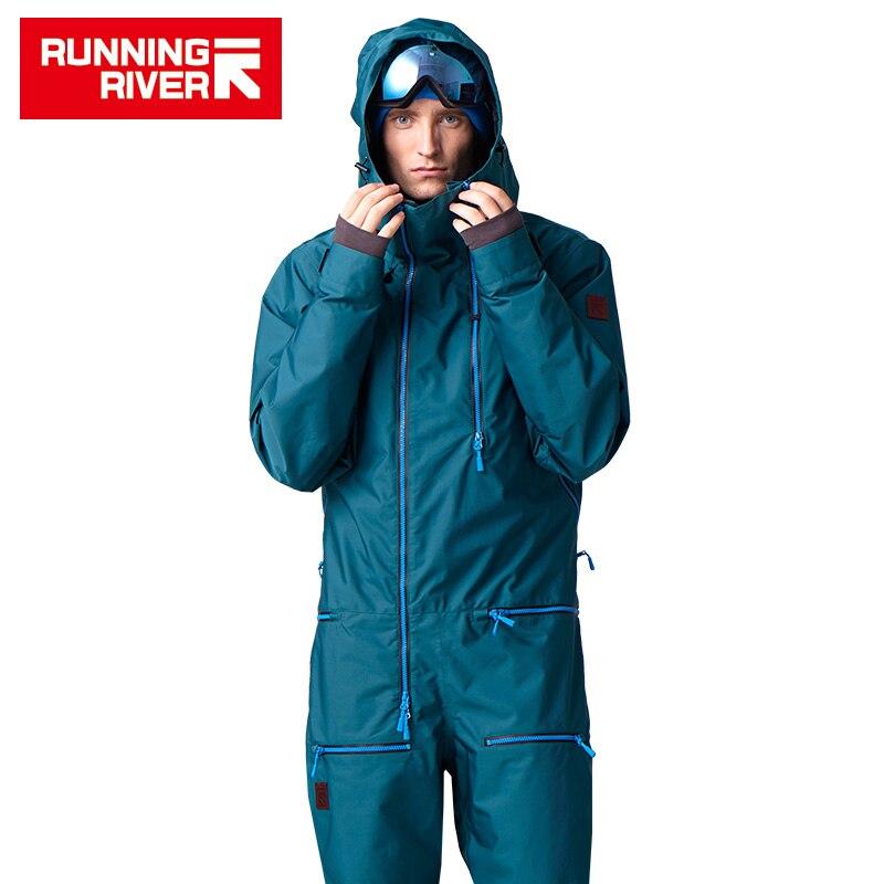 RIVIÈRE qui COULE Marque Veste Imperméable Pour hommes Snowboard Costume hommes Snowboard Veste Mâle Snowboard Set Vêtements # B7096