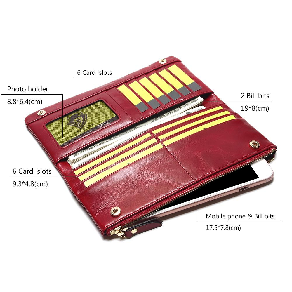 2018 New 100% Genuine Leather Women's Wallet With Coin ...