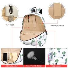 POPOKi Waterproof Backpack Cute Flamingo or Cactus Pattern