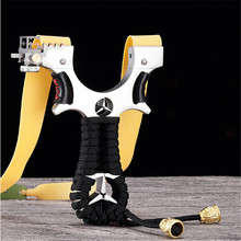 Hunting Slingshot Stainless Steel Catapult Flat rubber band Outdoor Shooting Game High Quality Professional Slingshots new 2019