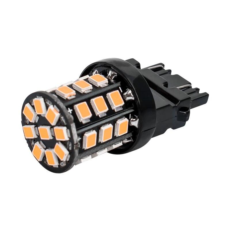 Bombillas LED de marcha atrás para coche, señal de giro diurna, blanco, rojo, amarillo, T25, 3157, 3156, 3057, 3457, 4157, 3047